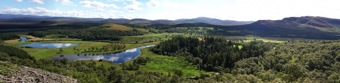 Panorama of the Spey valley, Scotland